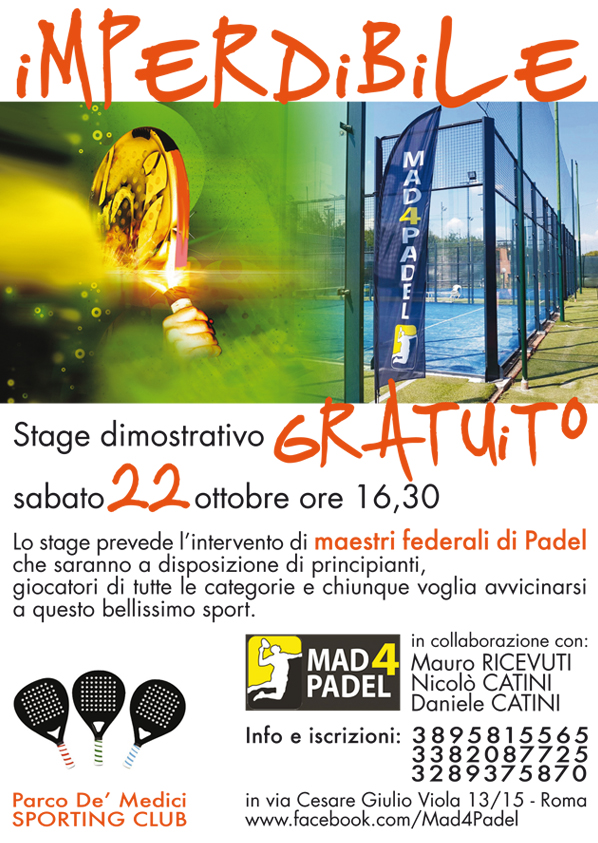 stage dimostrativo mad4 padel roma