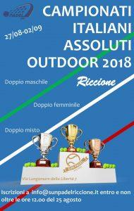 padel, padelnostro, campionati assoluti italiani outdoor 2018