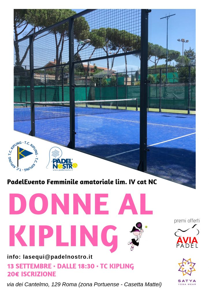 Tennis Club Kipling donne padelevento padelnostro