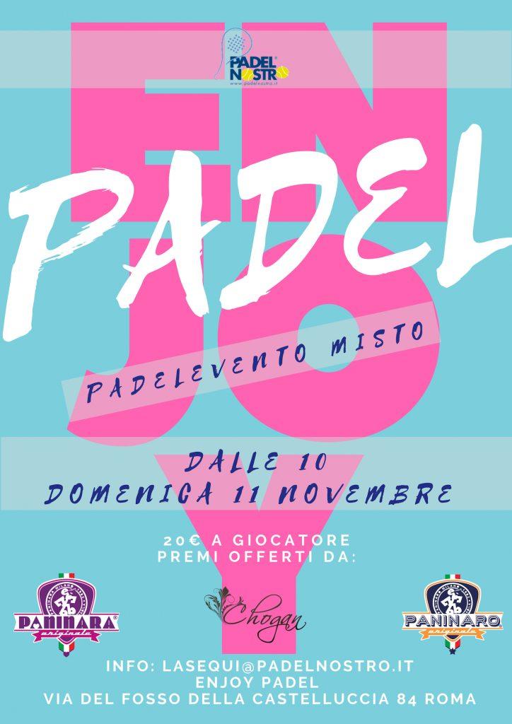 enjoy padel domenica 11 novembre